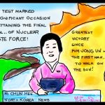 Kim Jong Un Missile Test Political Cartoon