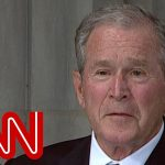 George W Bush: 'McCain loved freedom with the passion of a man who knew its absence'