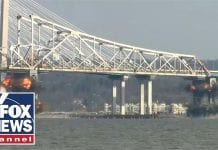 Watch explosive demolition of the old Tappan Zee bridge