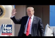 Trump arrives in New Jersey aboard Air Force One