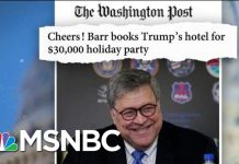 AG Barr Books Trump DC Hotel For $30,000 Personal Holiday Party | MTP Daily | MSNBC